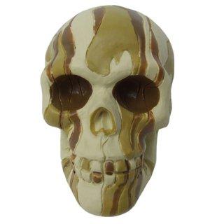 スカルシフトノブ Camo Desert skull