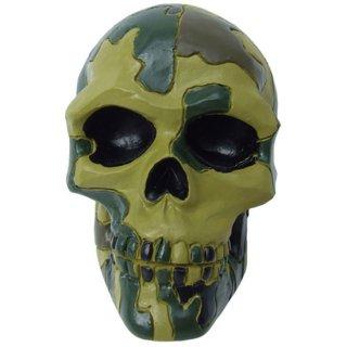 スカルシフトノブ Camo Jungle skull