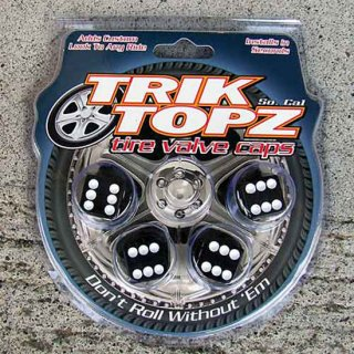 タイヤバルブキャップ ダイス 4pcsセット