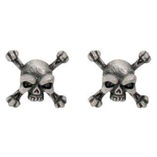 スカルピアス Skull Crossbones Studs Earrings