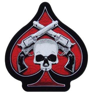 スカルアイロンワッペン Skull&Pistols