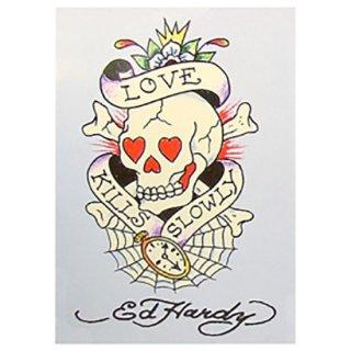 エド・ハーディー ポストカード Love Kills Slowly