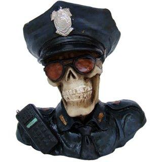 スカルバストアップミニフィギュア Police