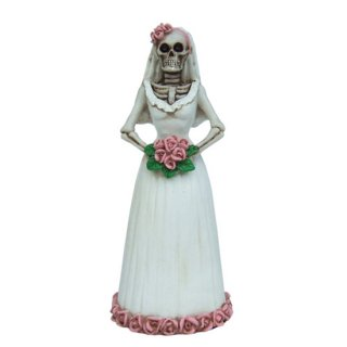 スカル花嫁フィギュア Day of The Dead Dod Purple And White Bride Statue