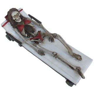 スカルフィギュア Sunbathing Skeleton