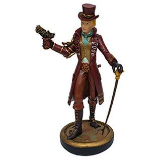 スチームパンクレディー像 Dapper Steampunk Lady Statue