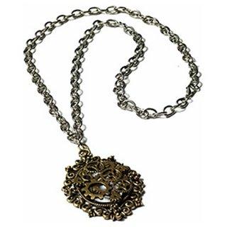 スチームパンク ブロンズギアネックレス Steampunk Bronze Gear Necklace