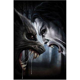 Spiral ヴァンパイア ファンタジーアートポスター Immortal Conflict Vampire v Werewolf