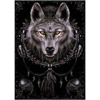 Spiral ファンタジーアートポスター Wolf Dreams