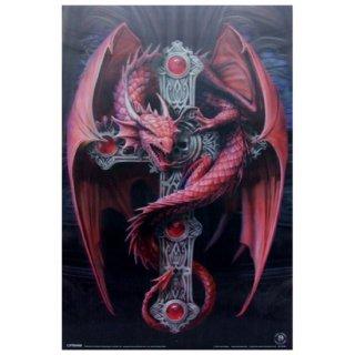 【同梱不可】Anne Stokes ゴシックドラゴン3Dポスター Gothic Dragon