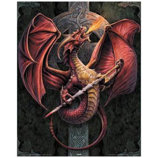 Anne Stokes ミニポスター Celtic Dragon