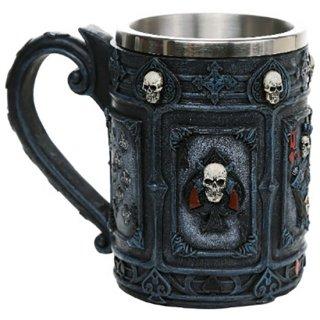 ポーカースカル ビアマグ ラージ タンカード Poker Skull Beer Mug Large Tankard