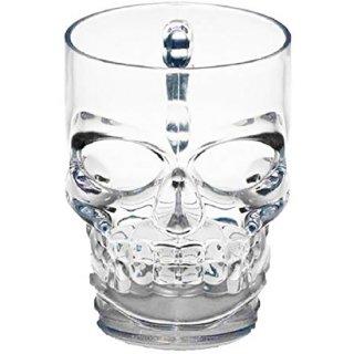 スカル ガラスマグカップ Skull Drinking Glass Mug Cup