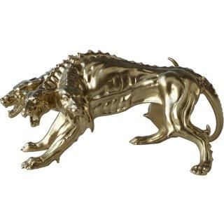 ケルベロスフィギュア Gold 地獄の番犬 Cerberus the Three Headed Dog Statu