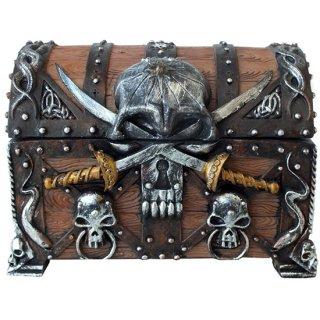 パイレーツスカル ダガークロス チェストボックス(海賊宝箱) Pirate Skull With Crossed Dagger Chest Box