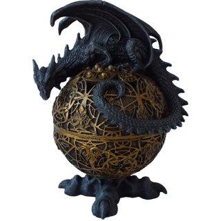 ゴシック ドラゴン グローブ ラウンドボックス Gothic Dragon Globe Round Box