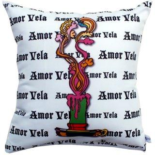 キャンドルアート 背当てクッション Love Candle Amor Vela WH