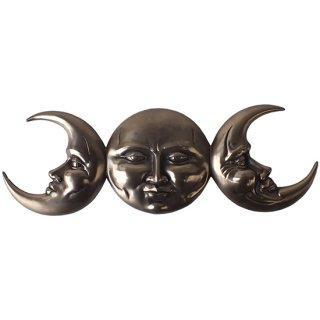 トリプル女神 トリプルムーン ハンギングウォールプラーク Wicca Triple Goddess Moon Wall Hanging Plaque