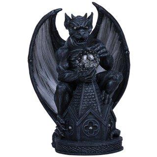 ウィングガーゴイルフィギュア 光ファイバーライト オブジェ Winged Gargoyle FiberLight Statue
