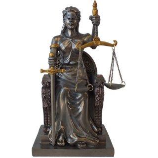 正義の女神 レディー ジャスティス ブロンズスタチュー(像) Myth Seated Lady Justice Bronze Statue