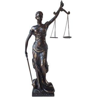 【同梱不可】正義の女神 レディー ジャスティス スタンディング ブロンズスタチュー(像)L Large Lady Justice Standing Bronze Statue 18Inch