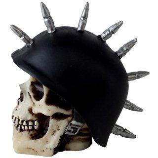 ミニスカルヘッド バイカースカル スパイク スタッズヘルメット German Mohawk Biker Skull Head