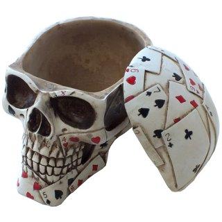ポーカースカルヘッド ボックス Poker Skull Head Box Container