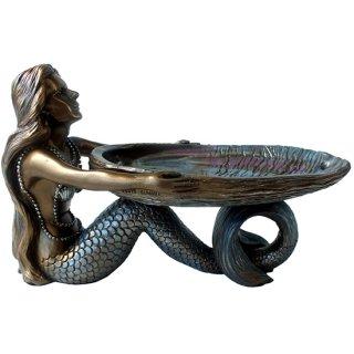 マーメイド(人魚)アバロンシェルトレイスタチュー Mermaid with Abalone Shell Statue