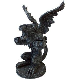 ゴシックライオンガーゴイル キャンドルホルダー スタチュー(像) Gothic Lion Gargoyle Candle Holder Statue