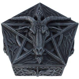 バフォメットボックス Baphomet PentagramTrinket Box