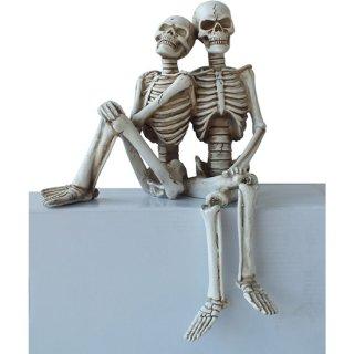 スカルフィギュア スケルトンカップルシェルフシッター Skeleton Couple Shelf Sitter