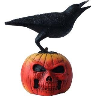 レイヴン オン パンプキンスタチュー Raven on Pumpkin Statue