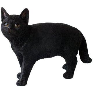 ブラックキャット 黒猫の置物 Black Cat Statue