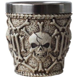 スカル&ボーン ショットグラス Ossuary Skull Shot Glass