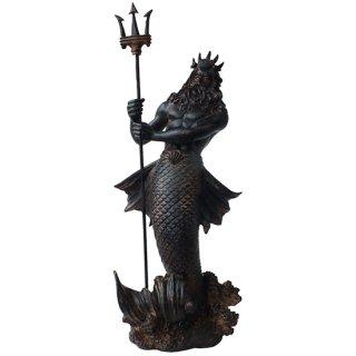 アンティークポセイドン ブロンズスタチュー(像) Bronzefinish Antiqued Poseidon Statue