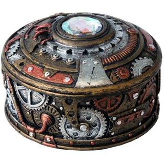 スチームパンク ラウンド装飾小物入れボックス Steampunk Round Trinket Box
