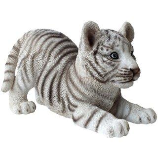 ホワイトタイガー・白虎の子供 スタチュー アニマルフィギュア White Tiger Cub Statue Animal Figurine