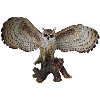 【同梱不可】イーグルフクロウ オープンウィング ラージ スタチュー(像) Eagle Owl On Branch with Open Wings large Statue