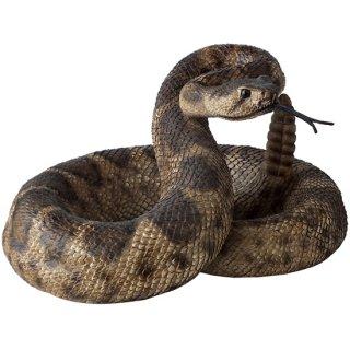 ガラガラヘビ フィギュア/蛇の置物 Rattle Snake Figurine Statue