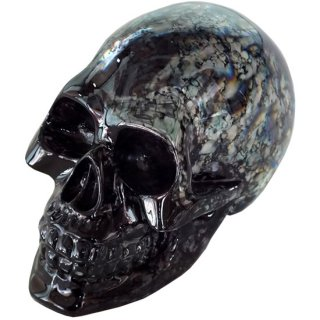 クリスタルスカルヘッド Small Skull Crystal Smoky Greysh