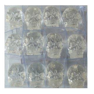 ミニミニクリスタル スカルヘッド クリア12個セット Translucent Clear Skull Mini Mini 12p