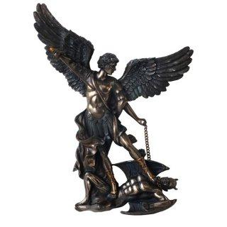 大天使聖ミカエル ハンギング(壁掛け)ブロンズ像 ウォールプラーク St.Michael Bronze Wall Plaque