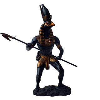 古代エジプトの戦士神 ファルコンコブラホルス像 Egyptian Falcon Cobra Horus Statue