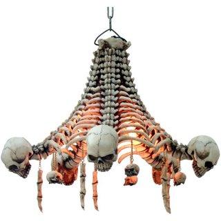 【同梱不可】スカルシャンデリア スカル&ボーンシェードランプ Skull Chandelier Skull and Bone shade Lamp