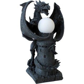 【同梱不可】ゴシックドラゴン キャッスルタワー テーブルランプ スタチュー(像)L Gothic Dragon Castle Tower Medieval Table Lamp Statue L