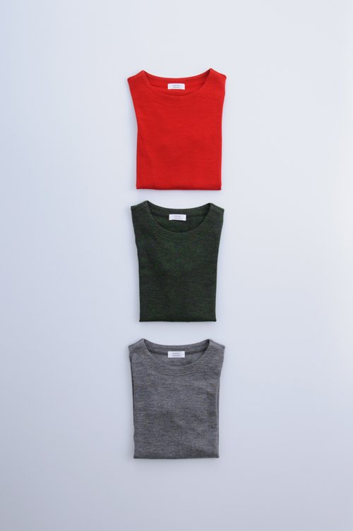 wool knit crew neck c&s