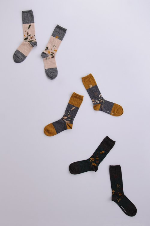 wool 〜落ち葉〜 middle socks