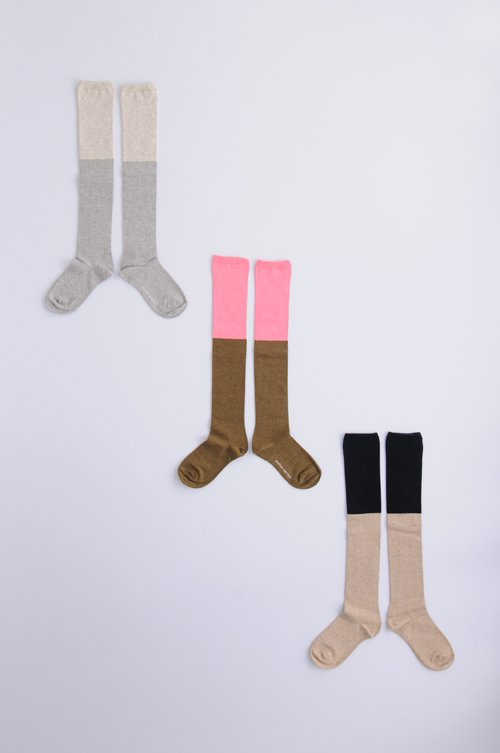 cotton 〜2 color〜 high socks