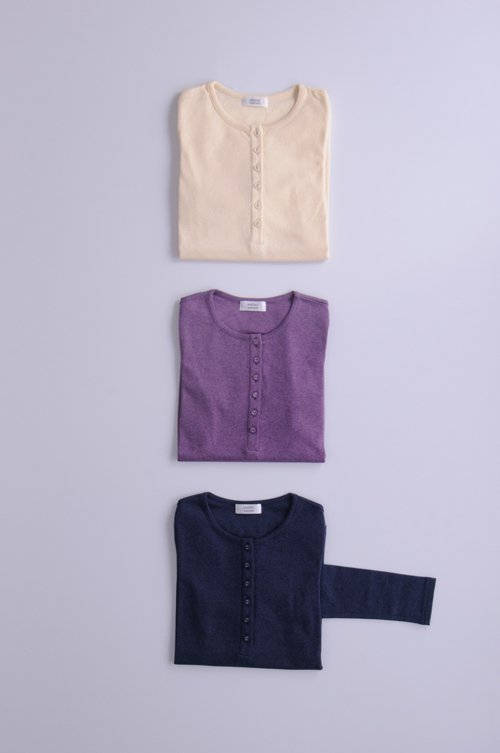 organic cotton henley neck c&s