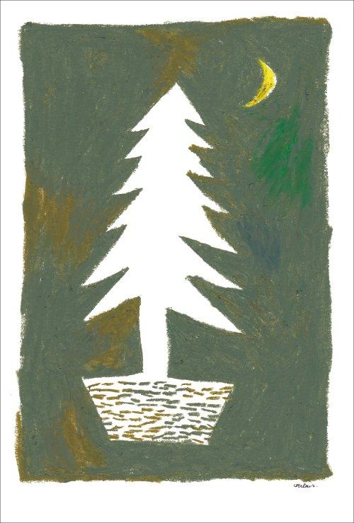 月夜のツリー